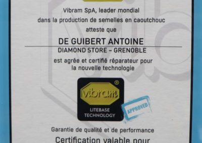 Certification Vibram